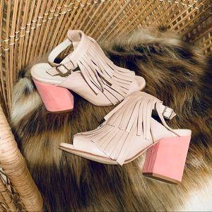 Ouigal fringe pump sandals